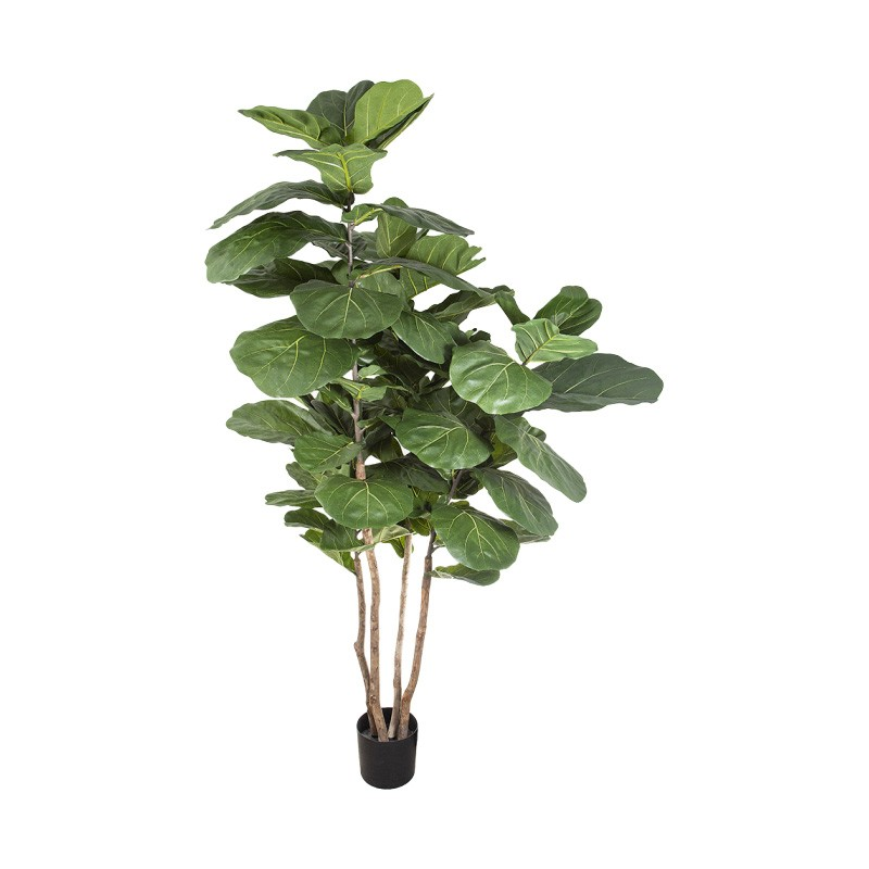 Potted Artificial Fiddle Leaf Fig Tree, 190cm