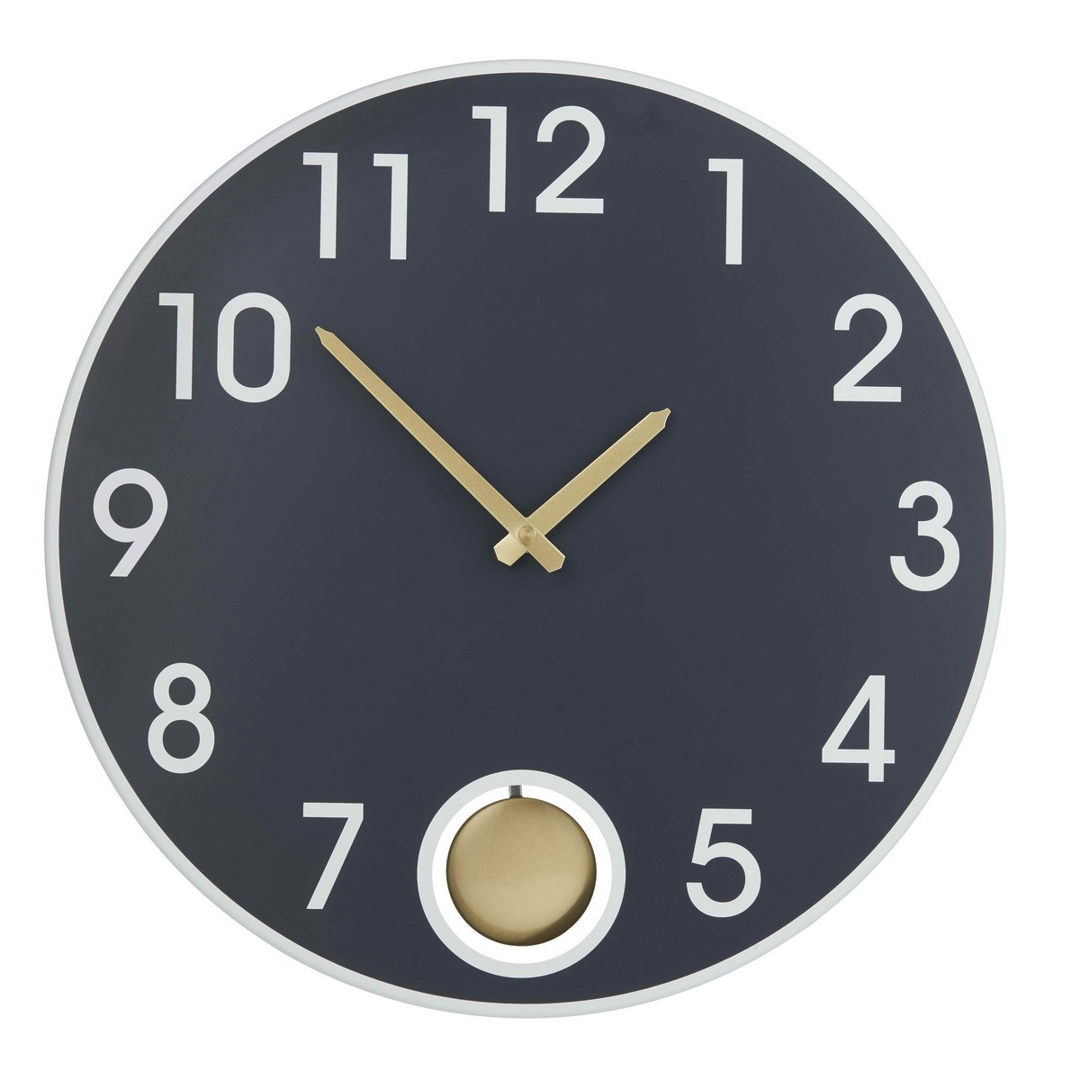 Asher Round Metal Wall Clock, 38cm