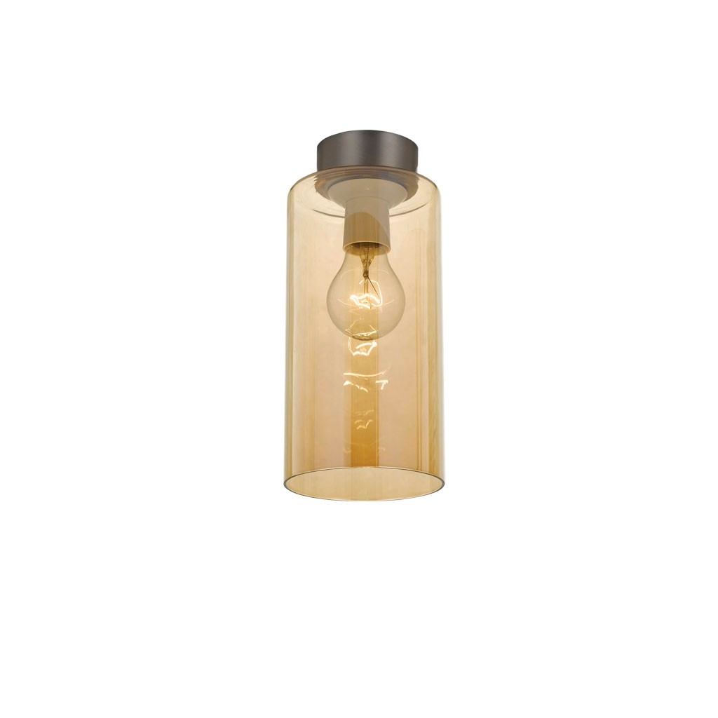 Teca DIY Glass Batten Fix Ceiling Light, Amber