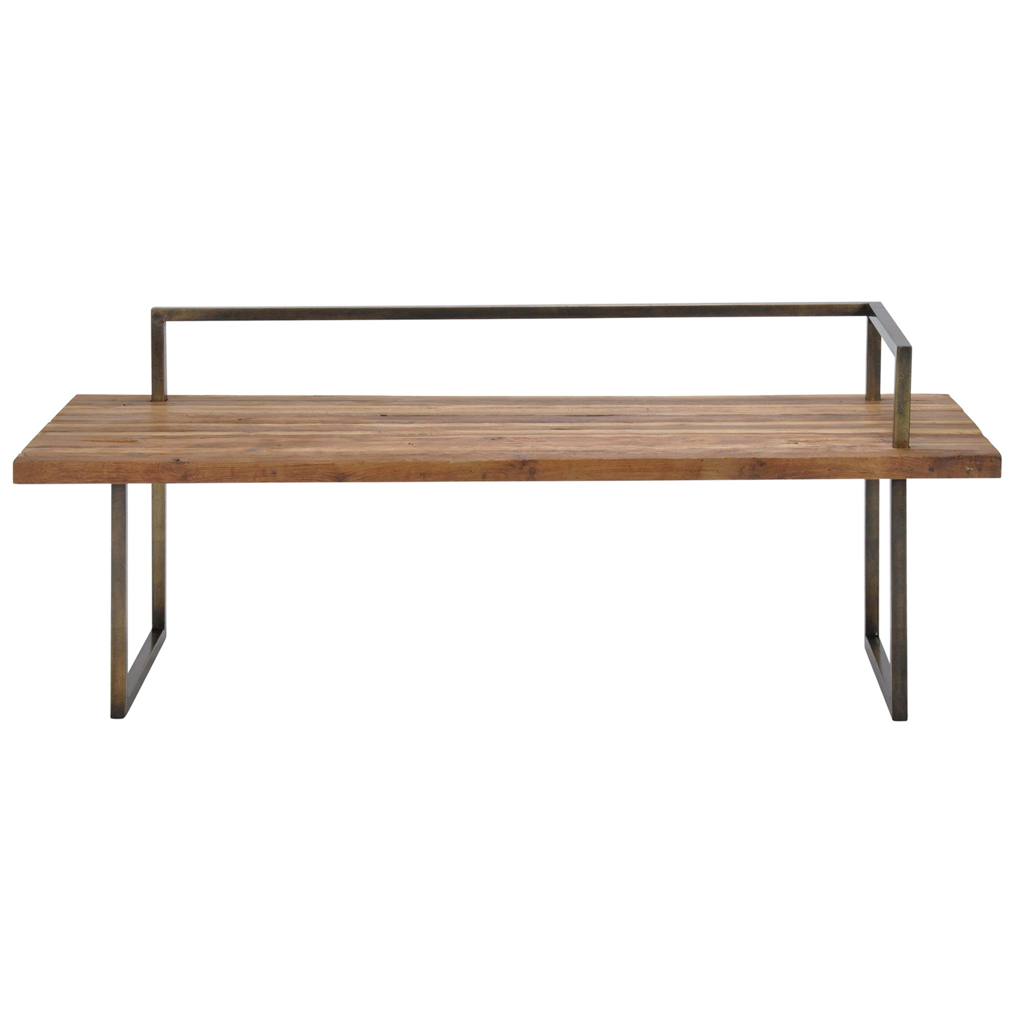 Tropica Santiago Commercial Grade Reclaimed Teak Timber & Metal Hall Bench, 160cm