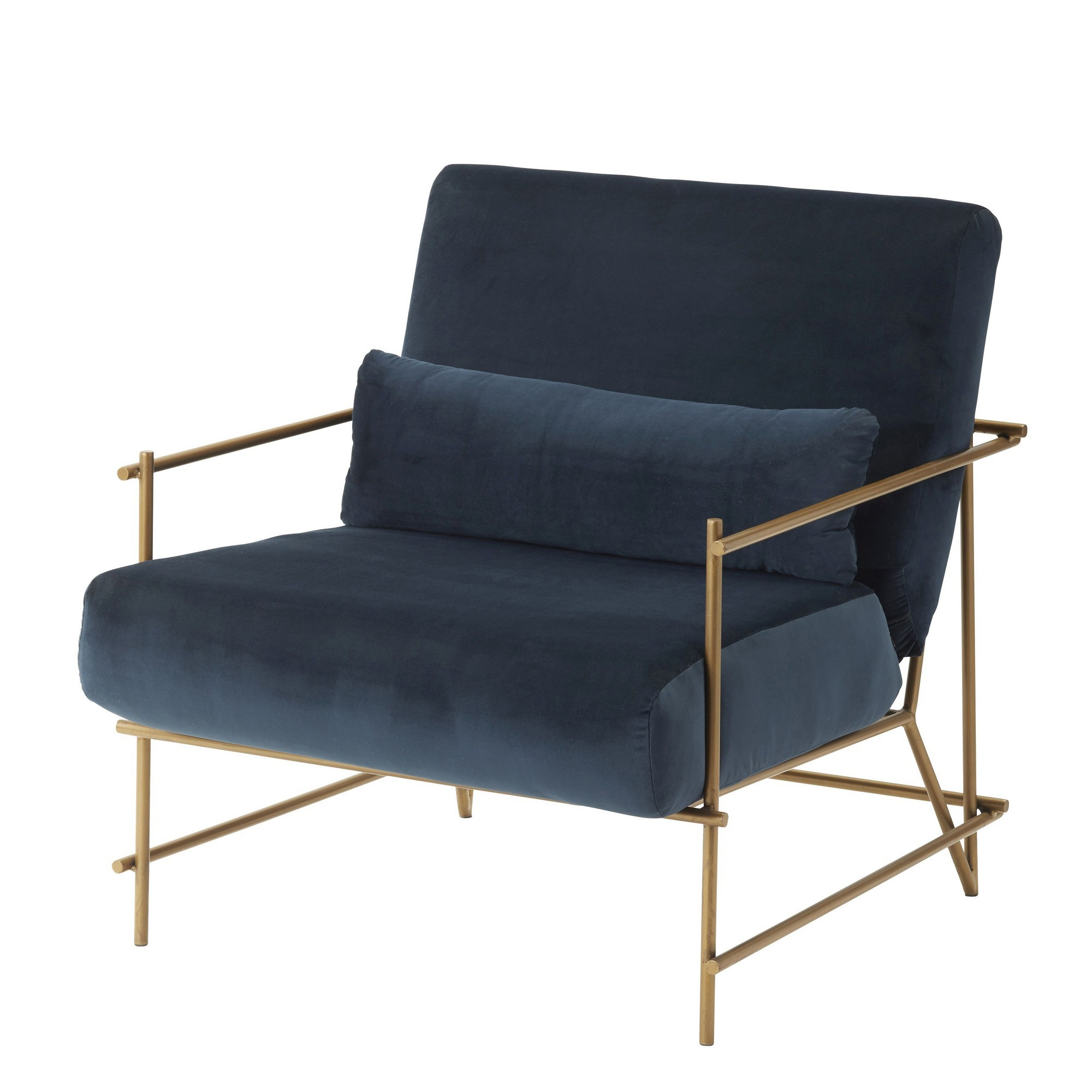 Dover Velvet Fabric Armchair