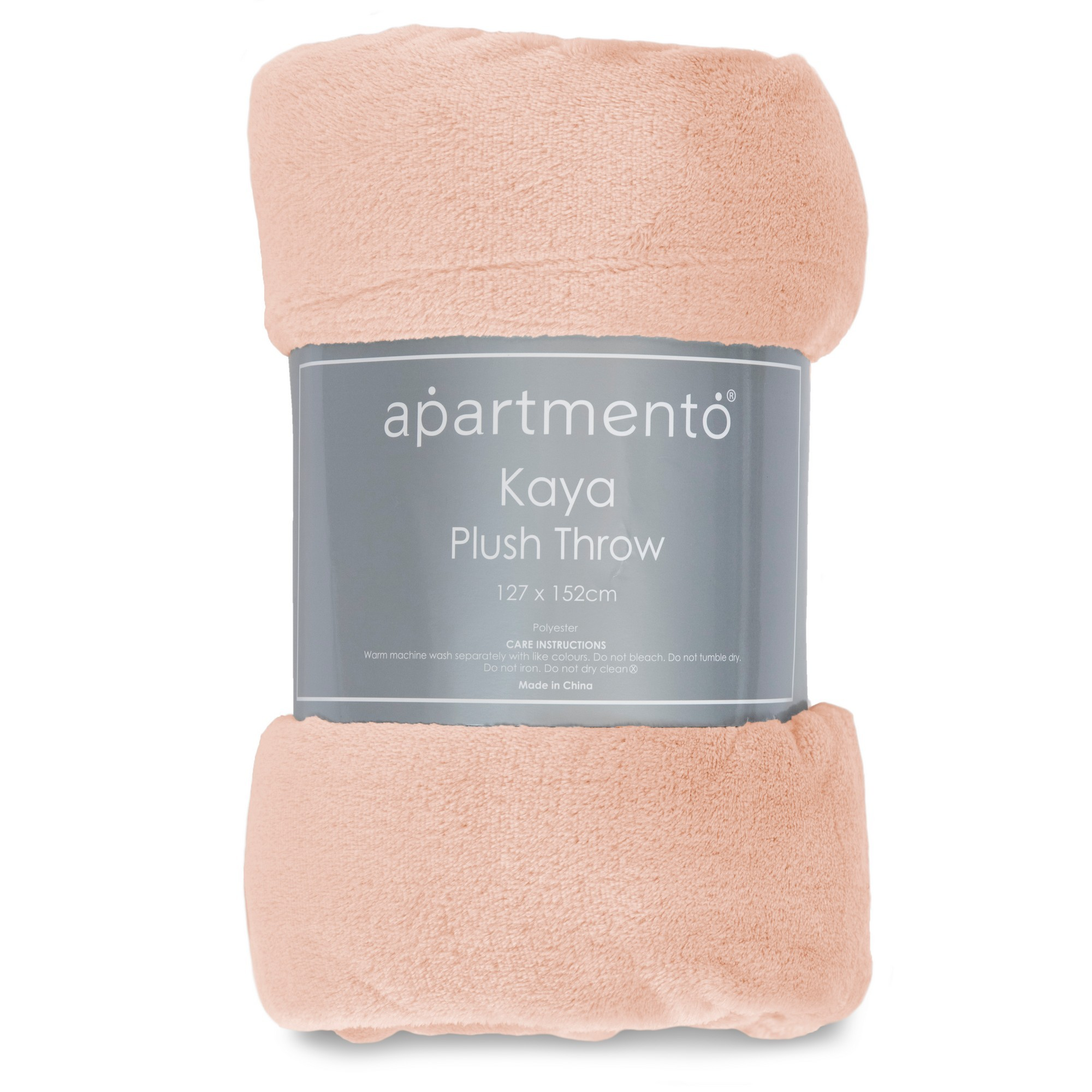 Apartmento Kaya Flannel Plush Throw, 127x152cm, Blush