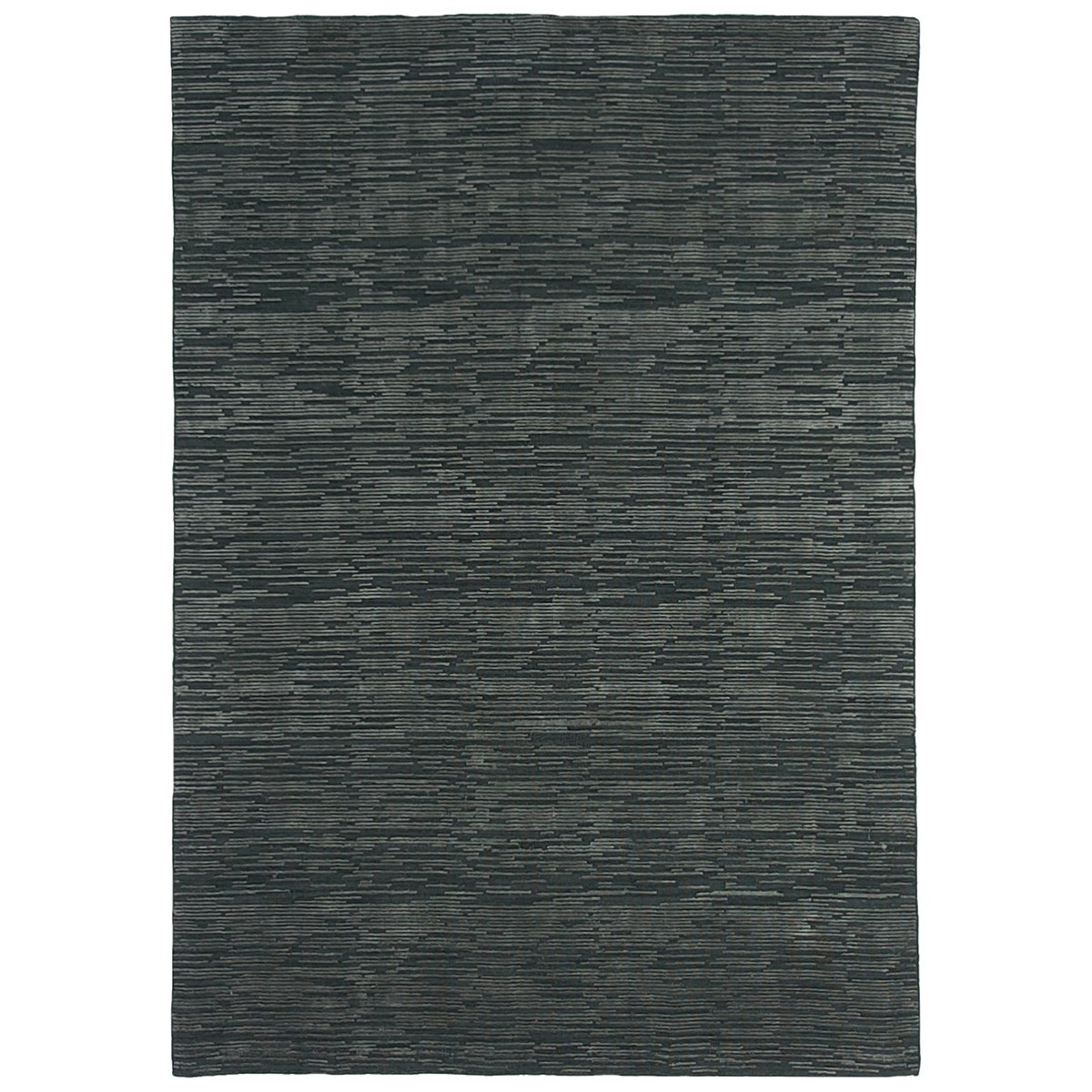 Timeless Stokes Hand Loomed Wool & Viscose Rug, 350x450cm, Charcoal / Grey
