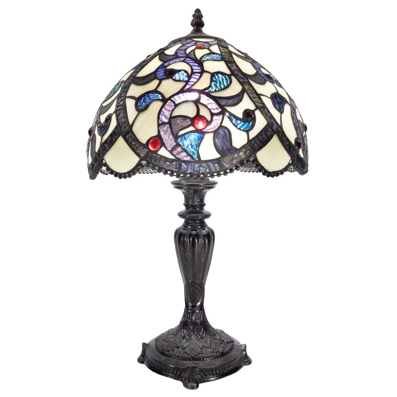 Maiko Tiffany Style Stained Glass Table Lamp, Medium