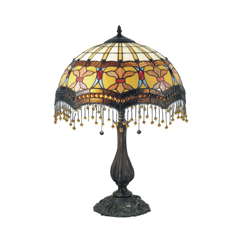 Madonna Tiffany Style Stained Glass Table Lamp, Large
