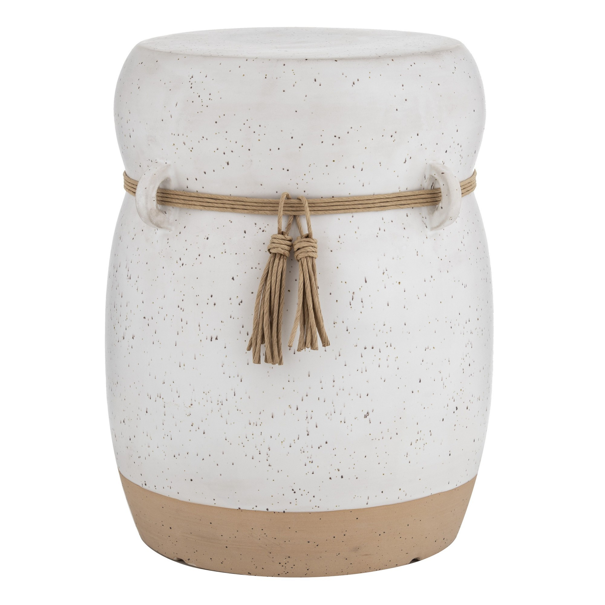 Mani Ceramic Side Table / Drum Stool