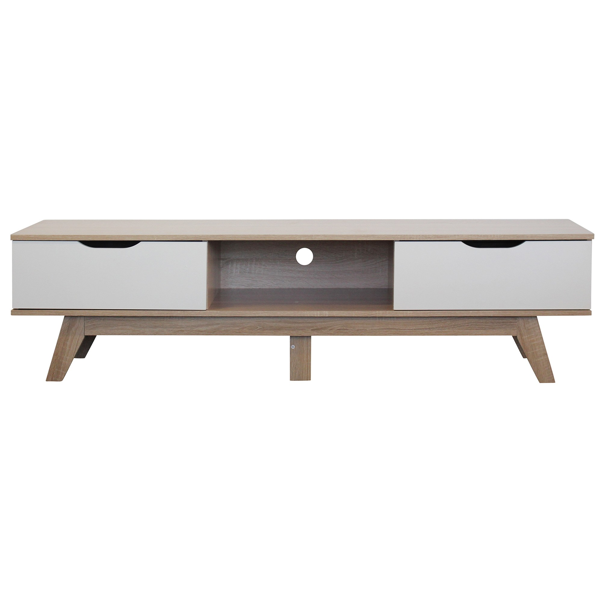 Bergen Wooden 2 Drawer TV Unit, 160cm