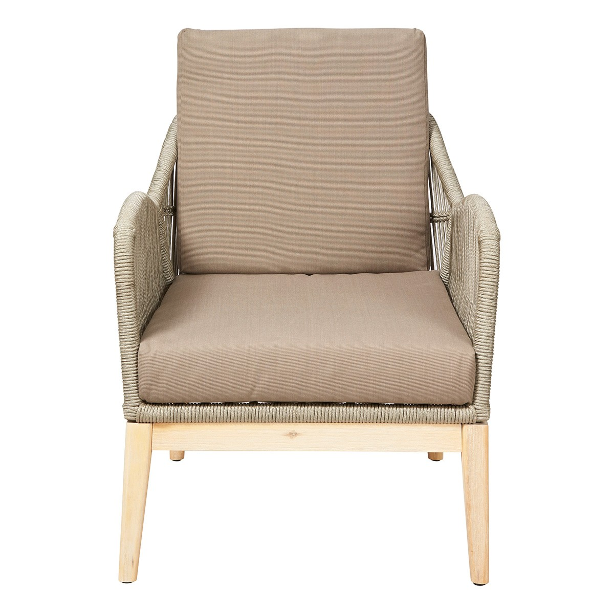 Bentley Indoor / Outdoor Lounge Armchair, Taupe