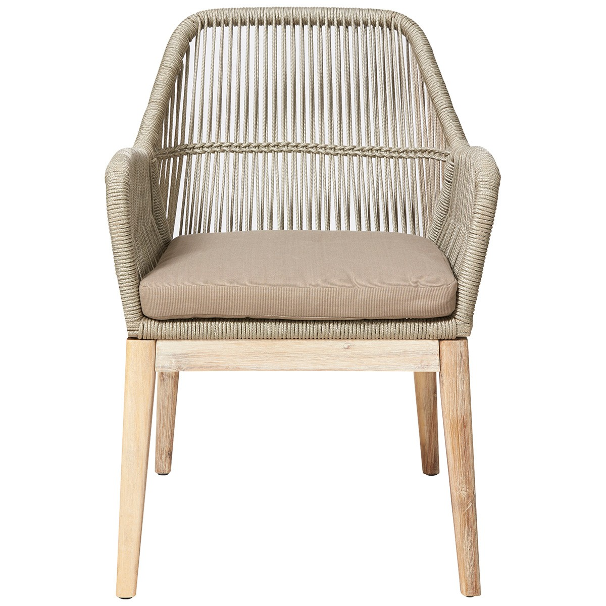 Bentley Indoor / Outdoor Dining Armchair, Taupe
