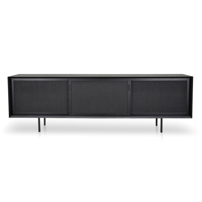 Norrmalm Wooden Sliding Door TV Unit, 220cm