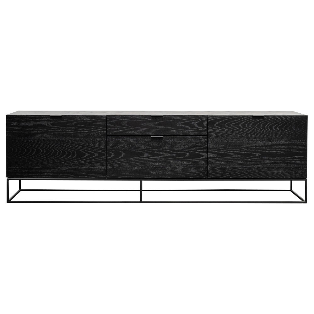 Galleno 2 Door 2 Drawer TV Unit, 180cm, Black