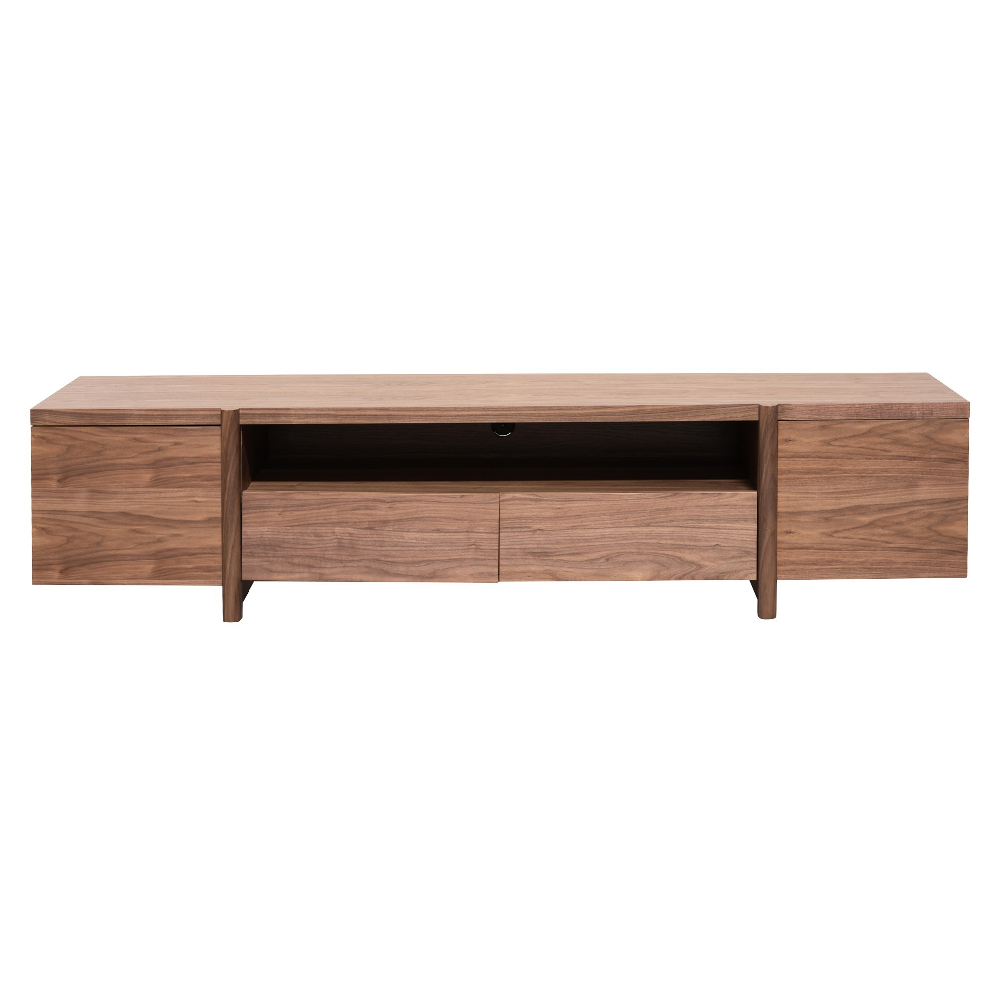 Myola Wooden 2 Door 2 Drawer TV Unit, 210cm, Walnut
