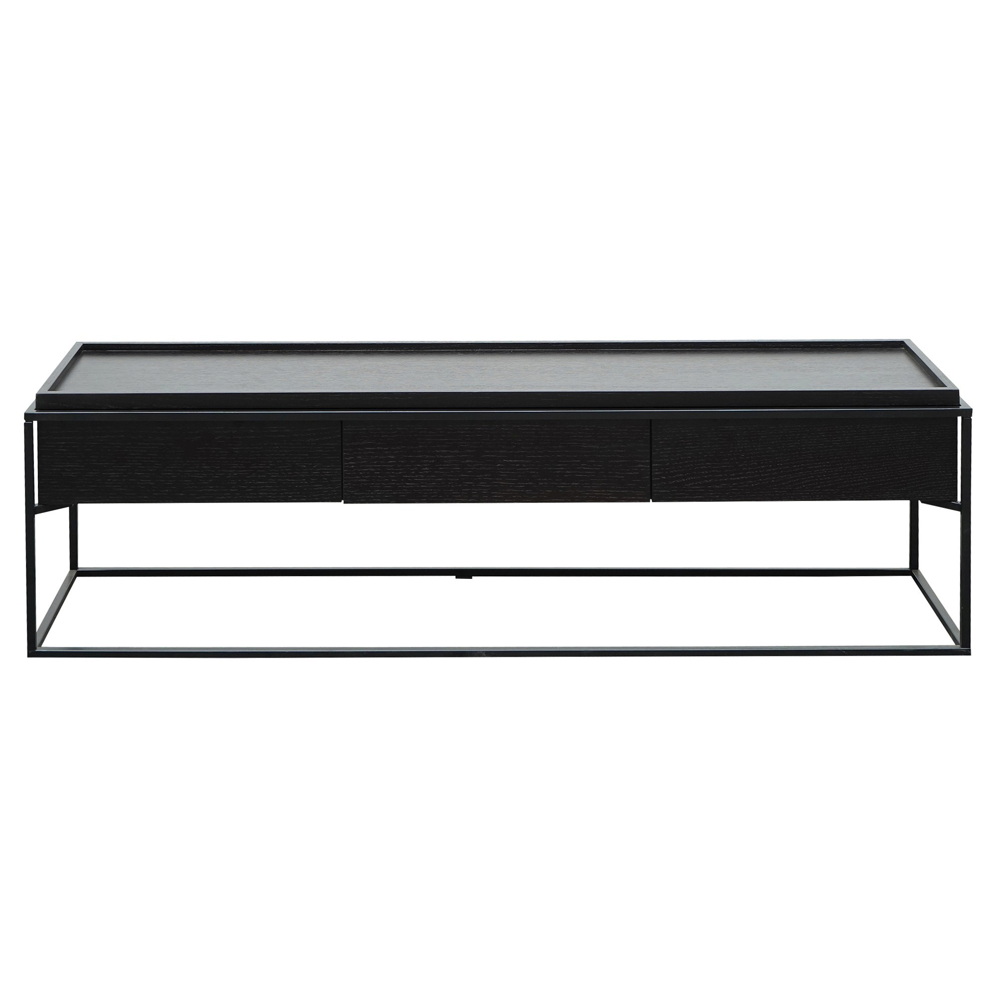Croxton Wood & Metal 3 Drawer TV Unit, 150cm