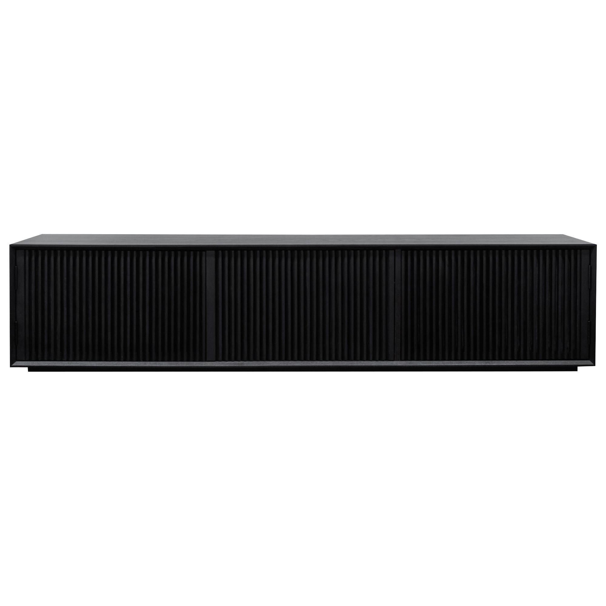 Eildon Wooden 3 Door TV Unit, 200cm, Black