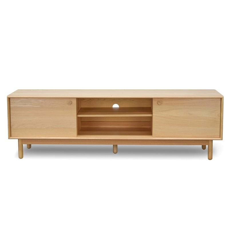 Kresten Wooden 2 Door TV Unit, 180cm, Oak