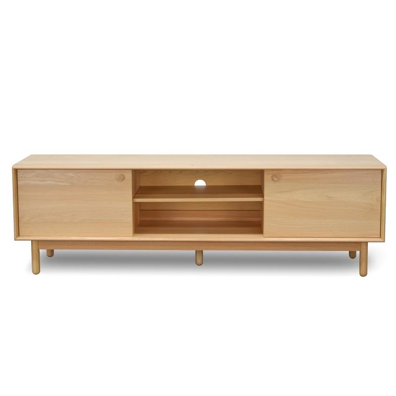 Kresten Wooden 2 Door TV Unit, 180cm, Oak