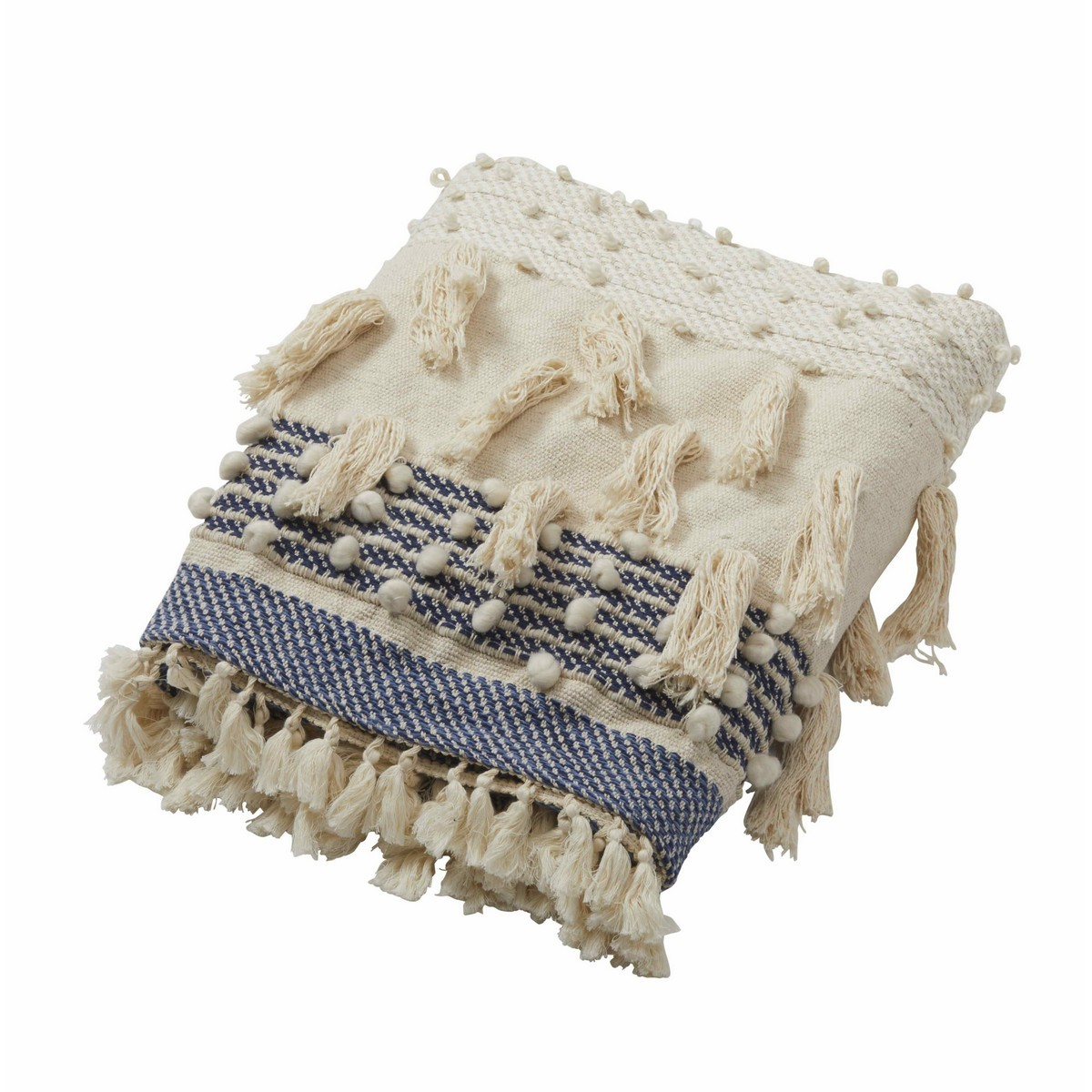 Sardinia Cotton & Wool Blend Throw, 125x150cm