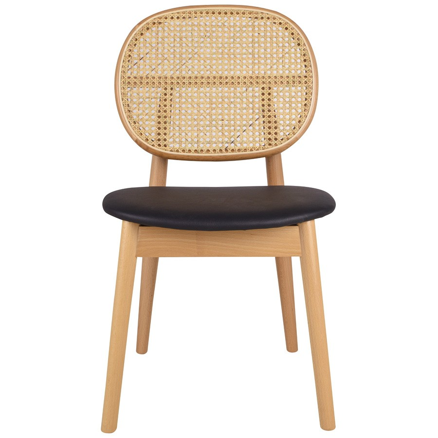 Tang Commercial Grade Dining Chair, Natural