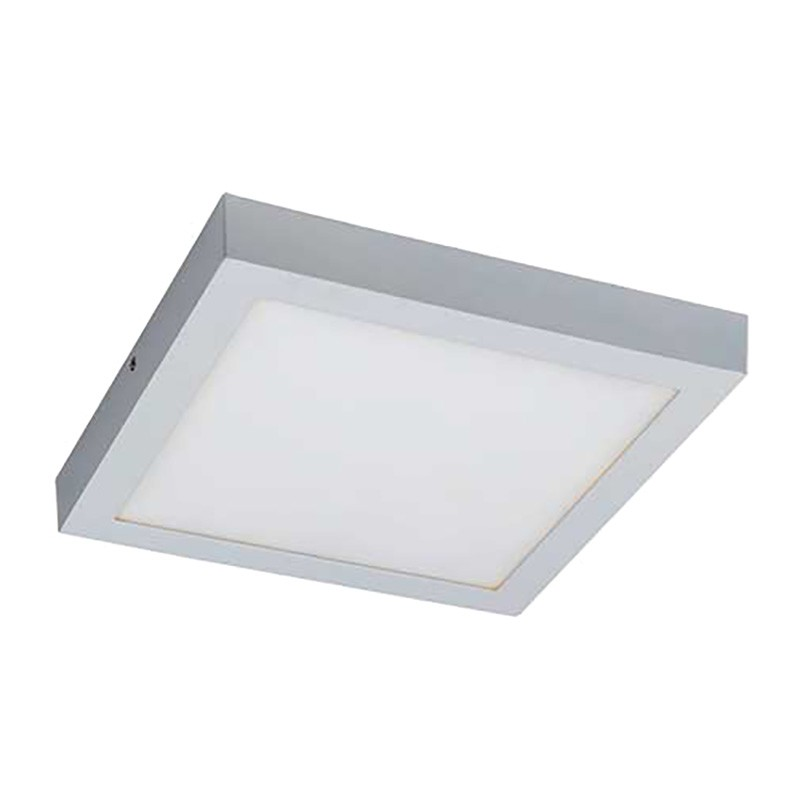 Unos LED Oyster Ceiling Light, 3000K, Square, White