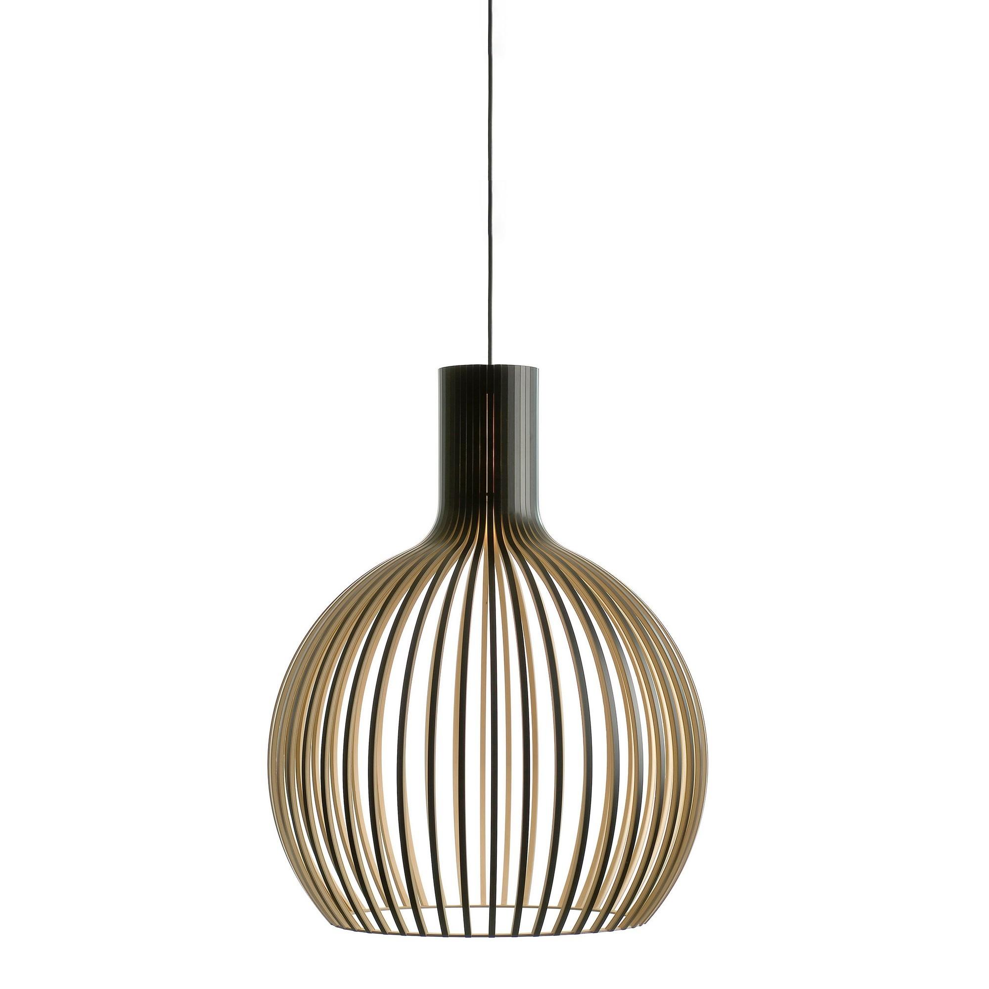 Replica Seppo Koho Octo Wooden Pendant Light, Medium, Black