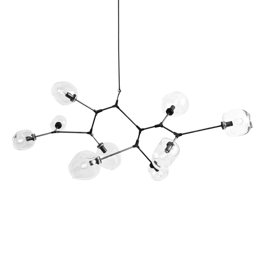 Replica Lindsey Adelman Branching Chandelier, 9 Light, Black