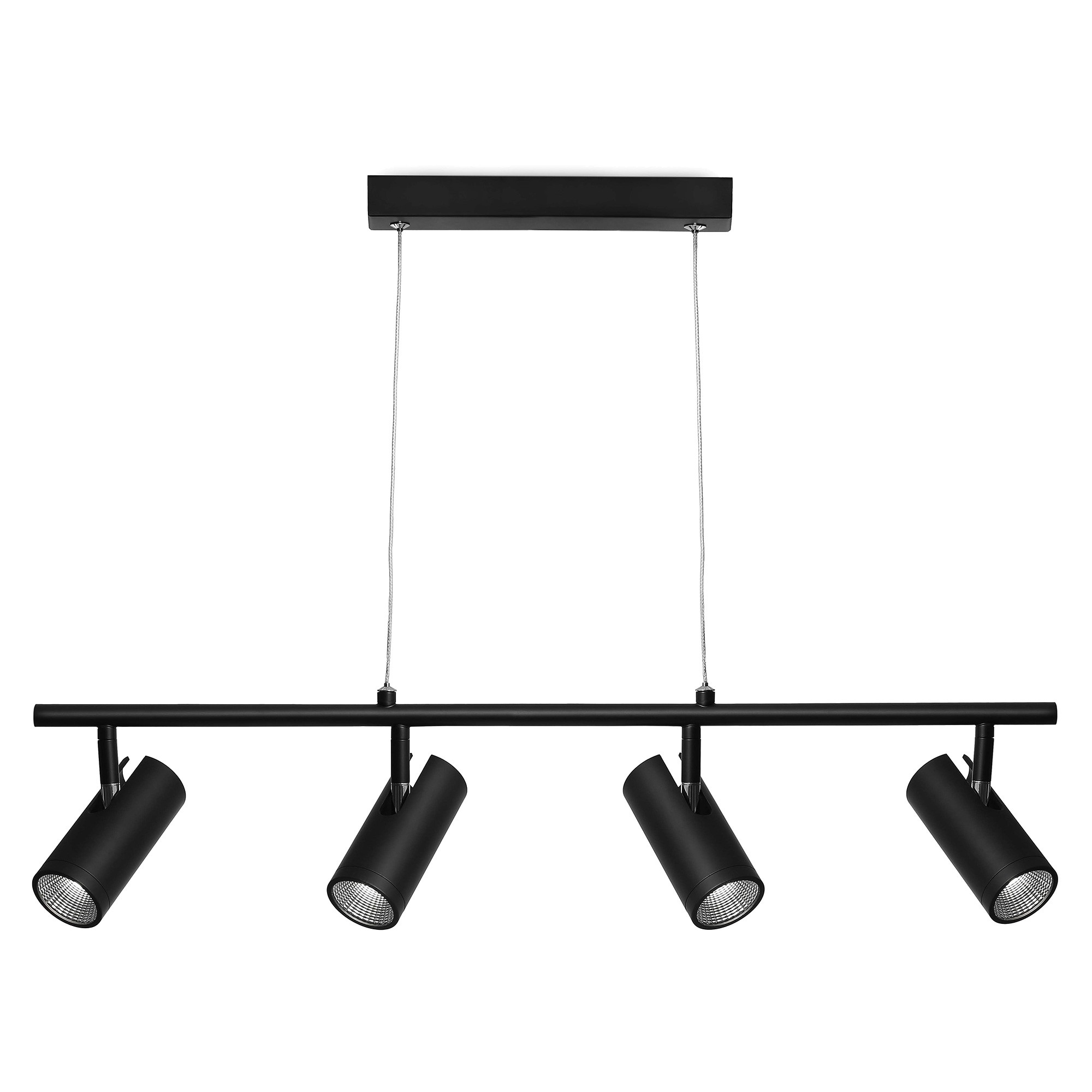 Urban Metal LED Pendant Light, 4 Light, Black