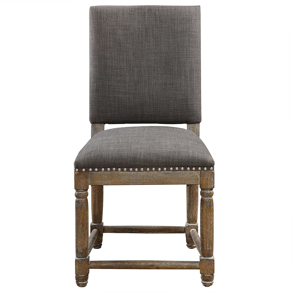 Laurens Hardwood Timber Dining Chair with Fabric Seat