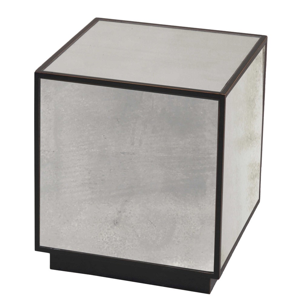 Matty Mirrored Cube Side Table