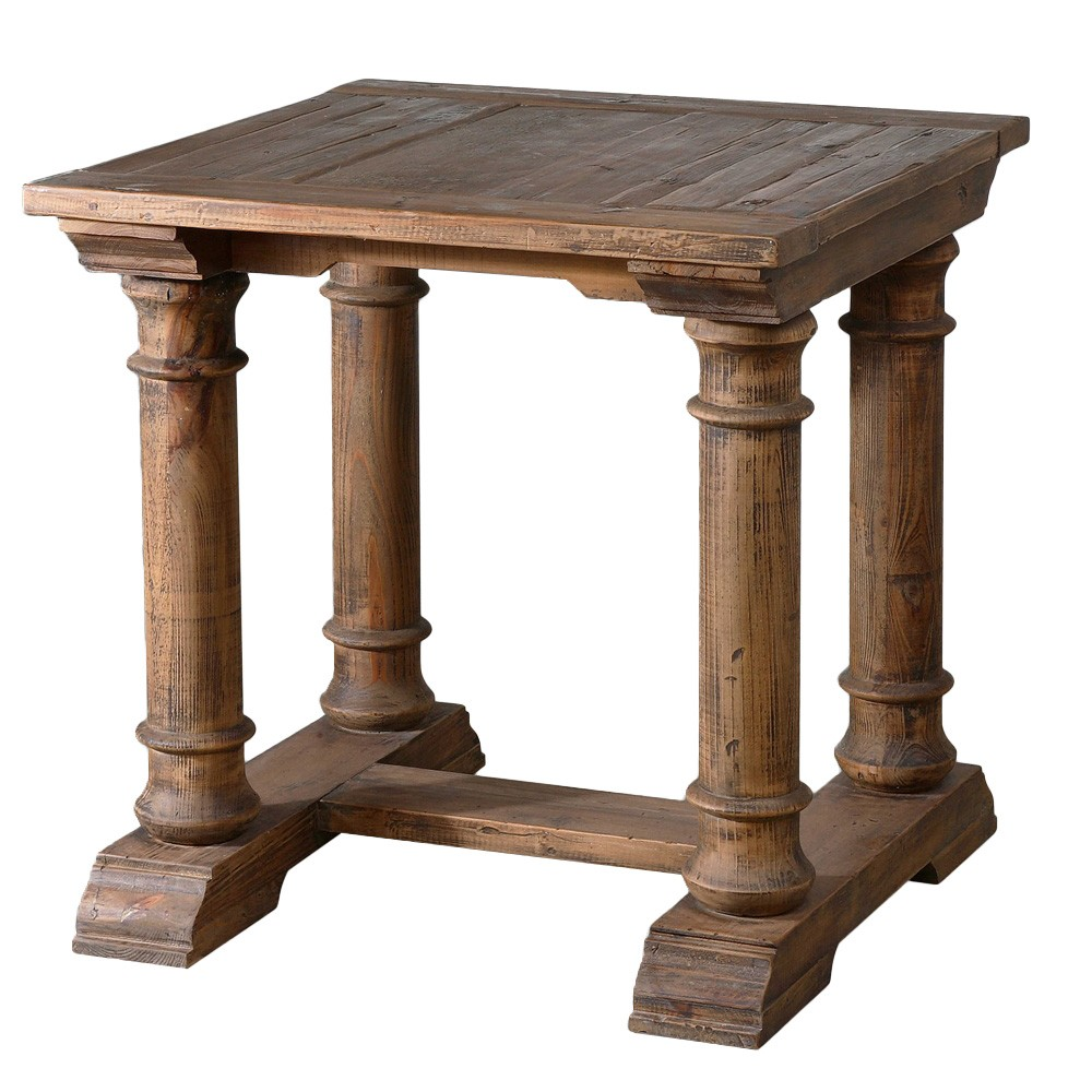 Saturia Reclaimed Fir Timber Side Table