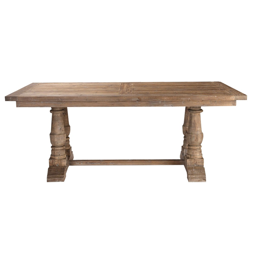 Stratford Reclaimed Fir Timber Dining Table, 193cm