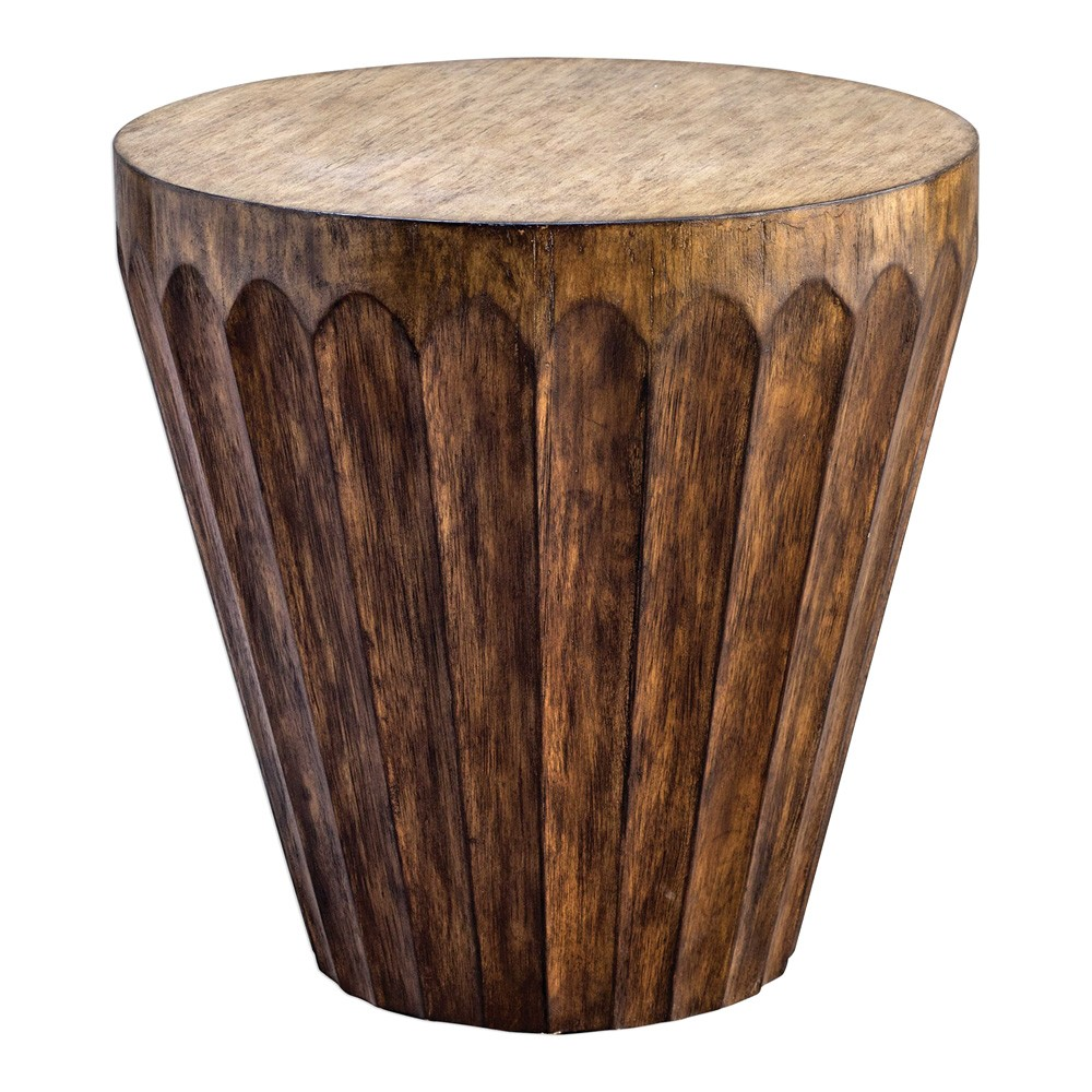 Dova Hardwood Accent Drum Table