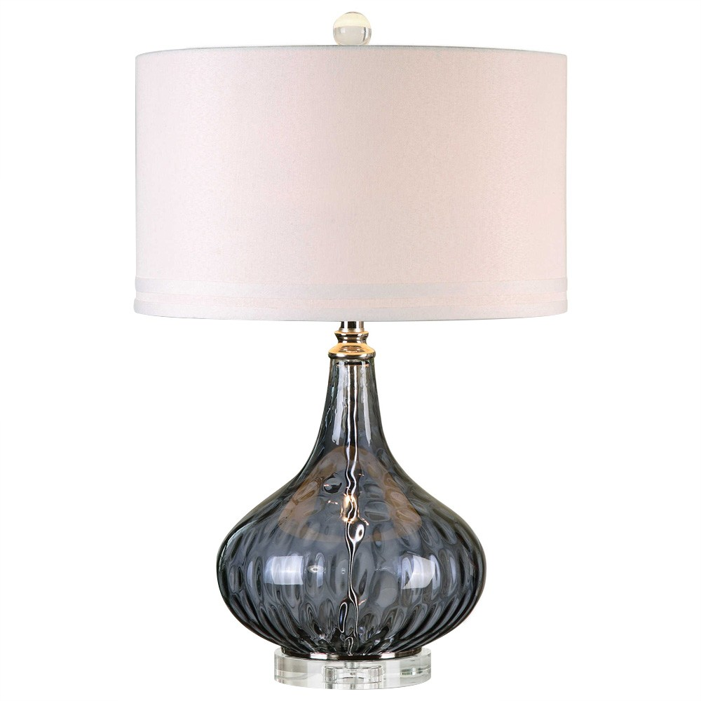 Sutera Glass Base Table Lamp