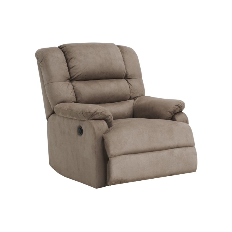Elmo Fabric Electric Recliner Lounge Armchair, Chocolate