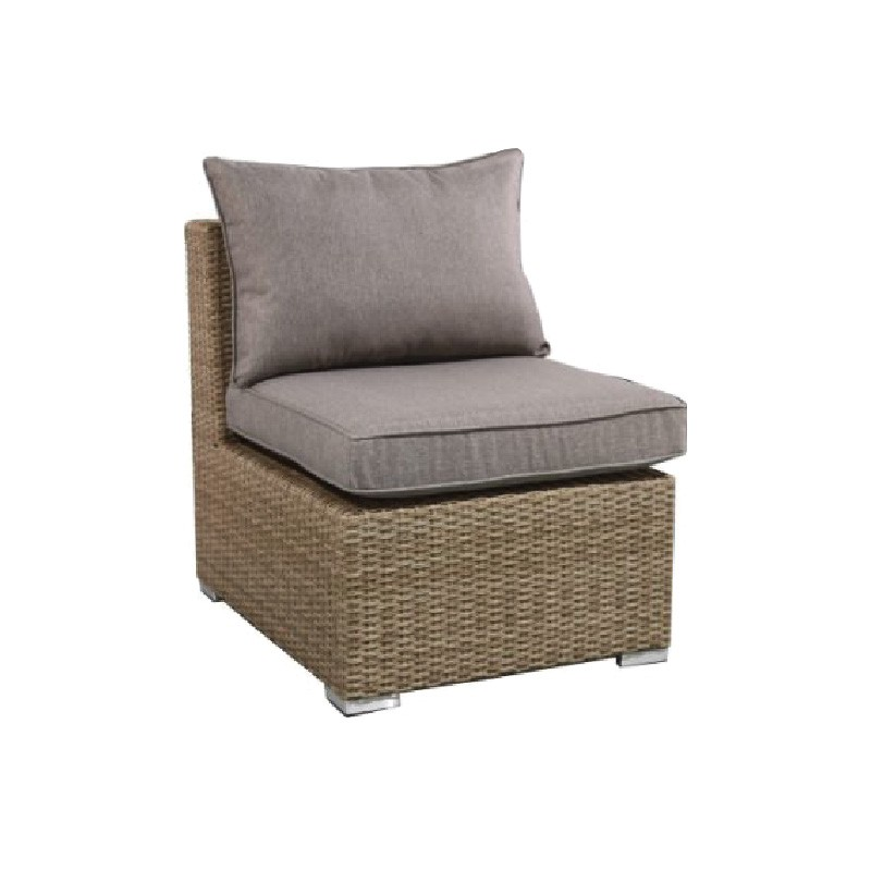 Moluman Outdoor Wicker Modular Armless Lounge Chair