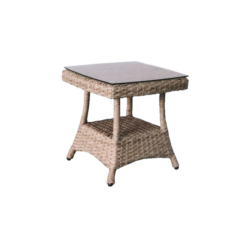 Moluman Outdoor Wicker Side Table
