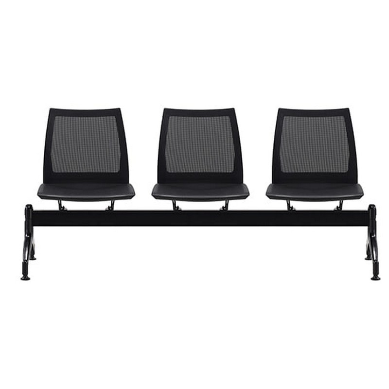 Vinn Beam Chair, Mesh Back, 3 Seater