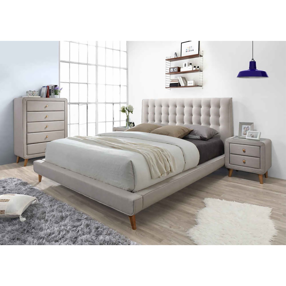 Rizal Fabric Bed, Queen