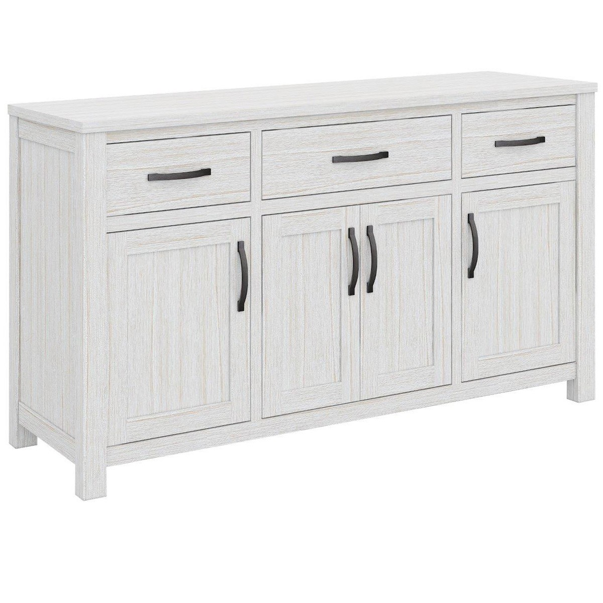 Lakeland Mountain Ash Timber 4 Door 3 Drawer Buffet Table, 158cm
