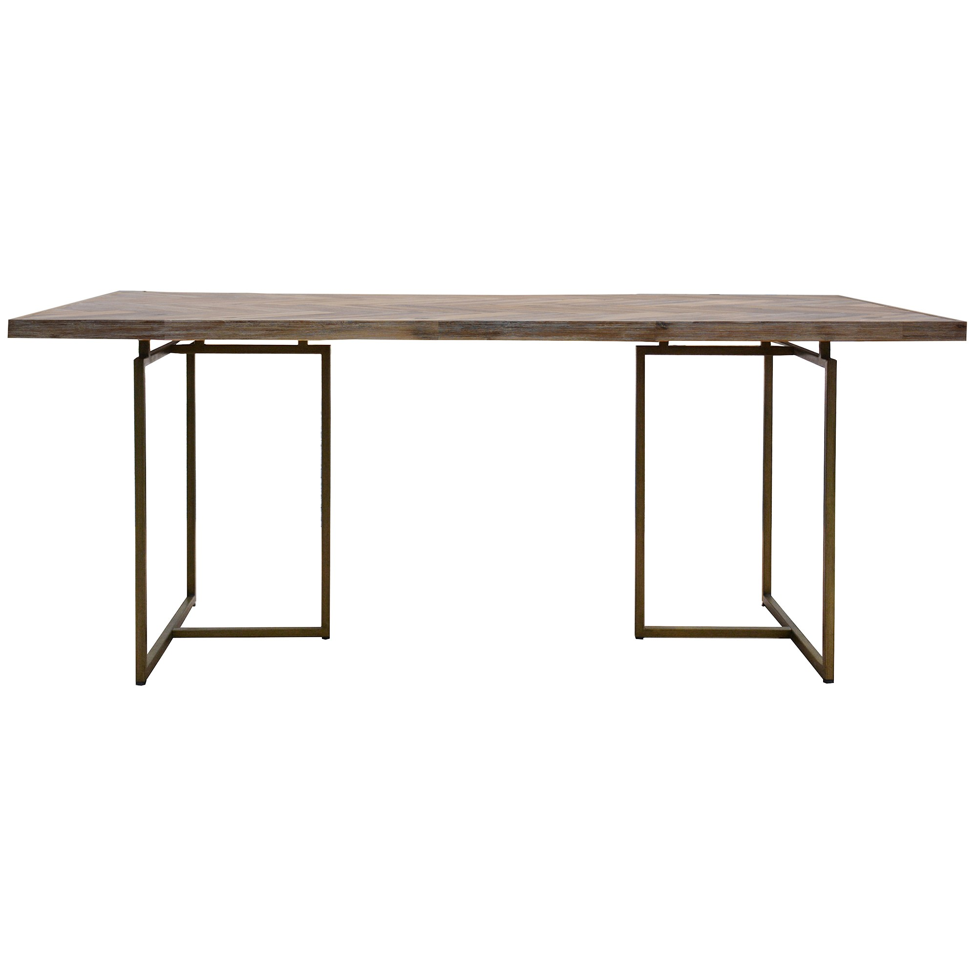Nona Acacia Timber & Metal Dining Table, 210cm