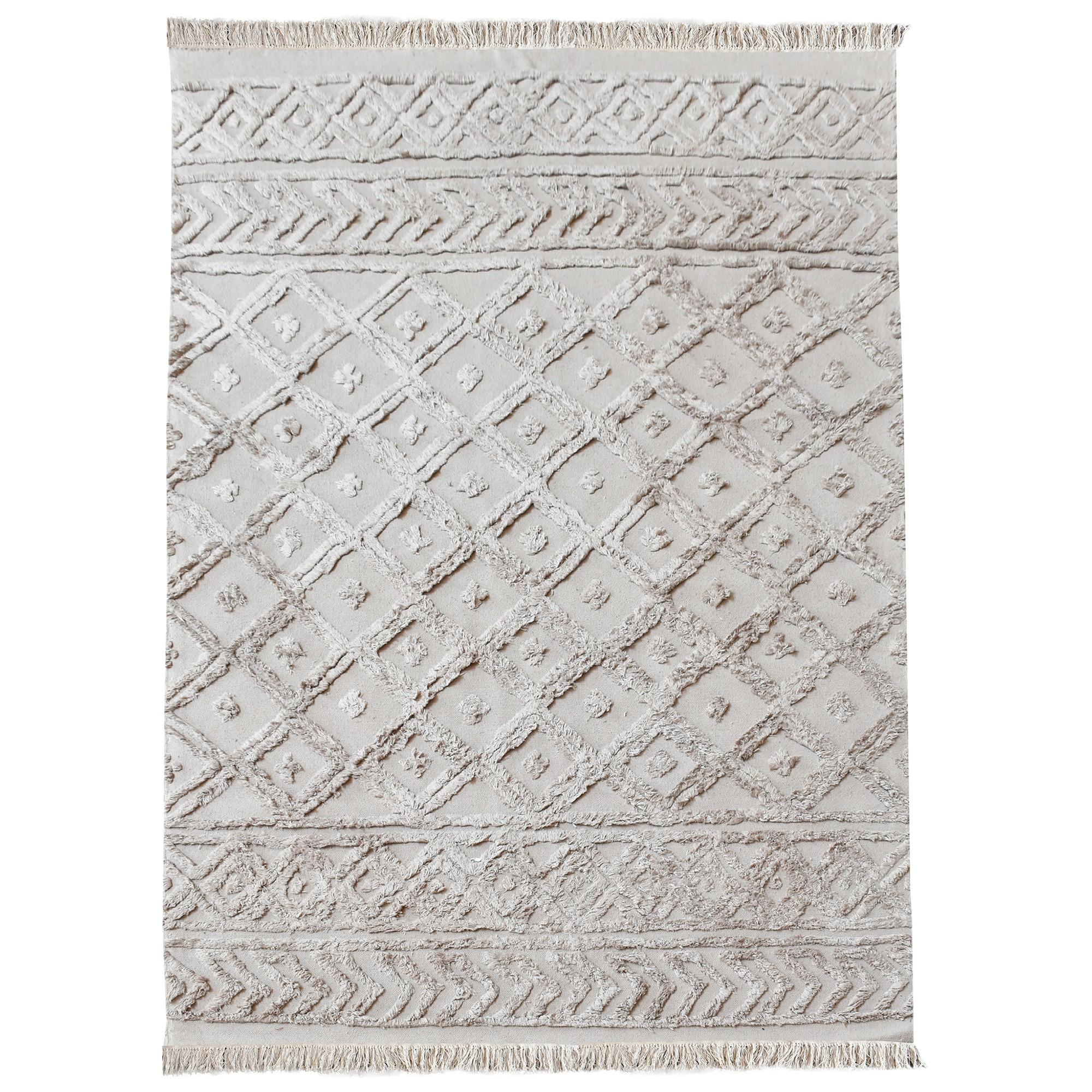 Lison Textured Cotton Rug, 160x230cm