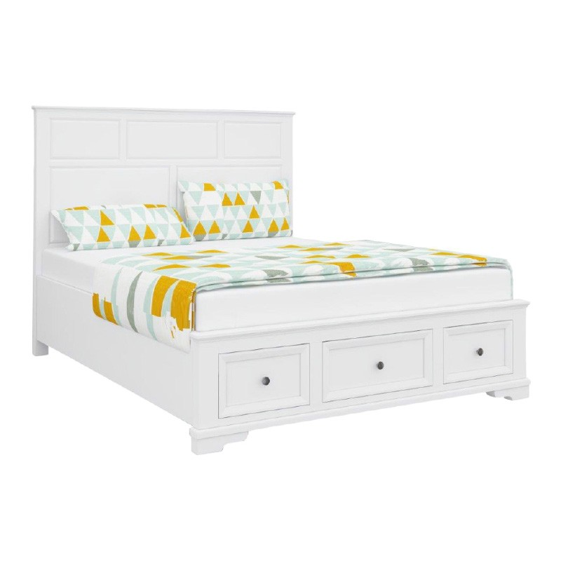Vienna Wooden Bed with Storage, Queen