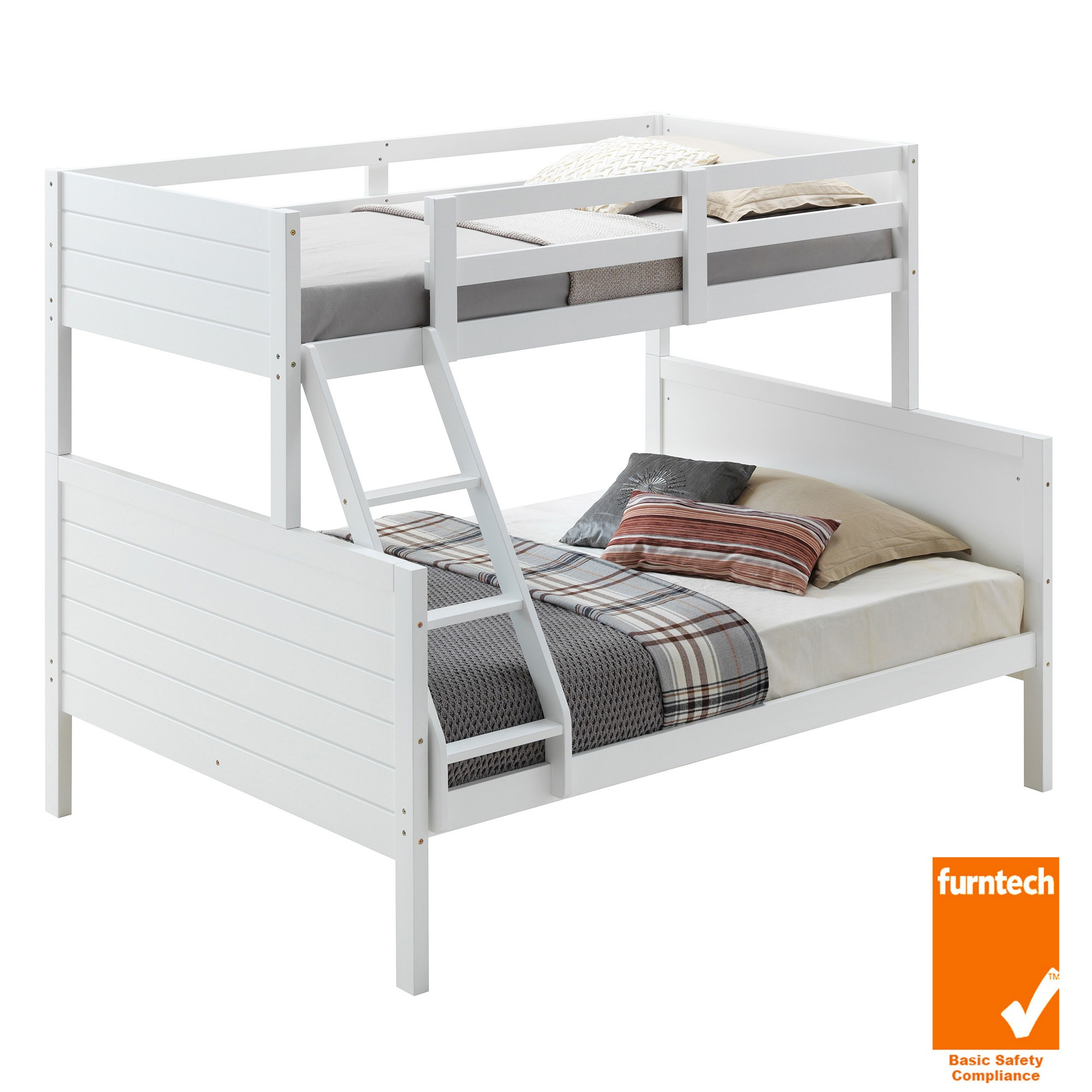 Welling Wooden Bunk Bed, Trio, White