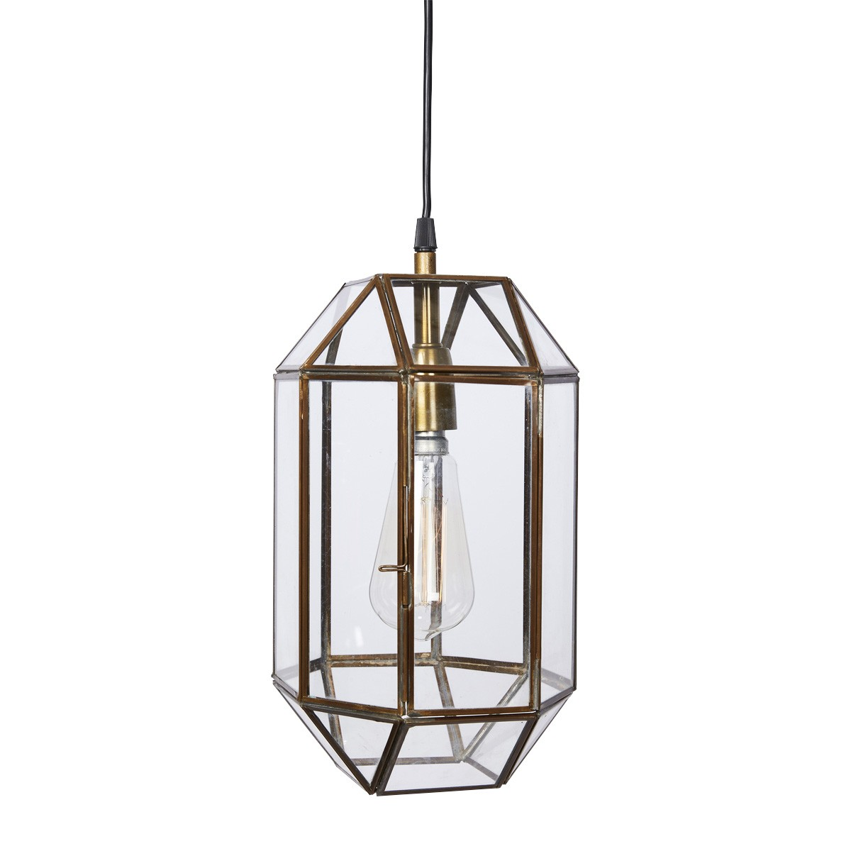 Camilla Brass & Glass Geometric Pendant Light