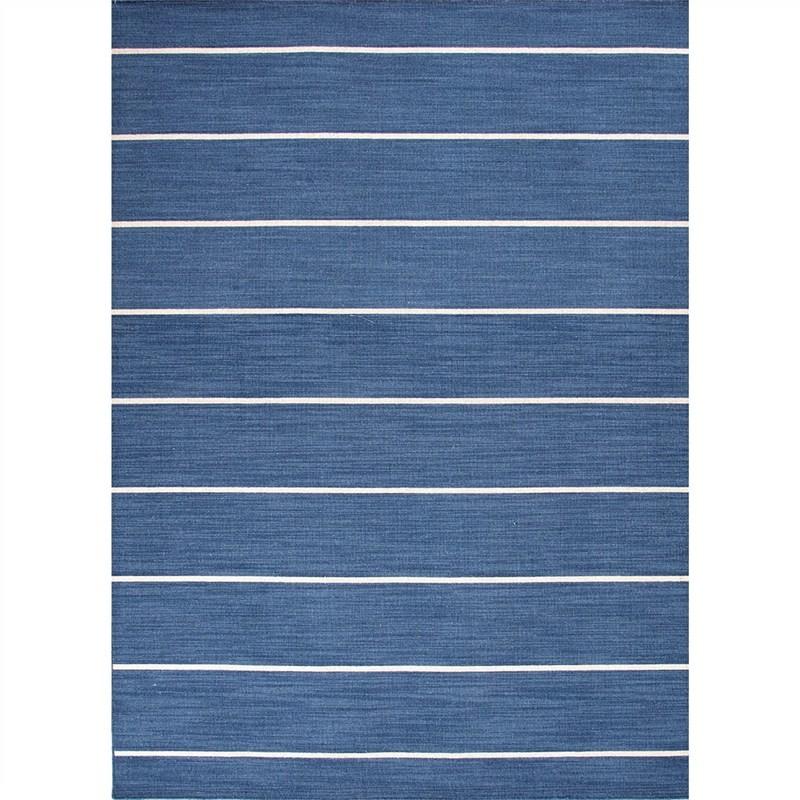 Cressy Handmade Flat Weave Wool Rug, 160x230cm, Dark Denim