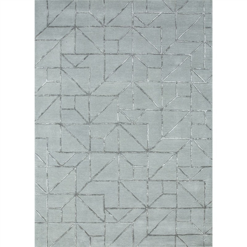 Candover Hand Tufted Wool & Viscose Rug, 160x230cm
