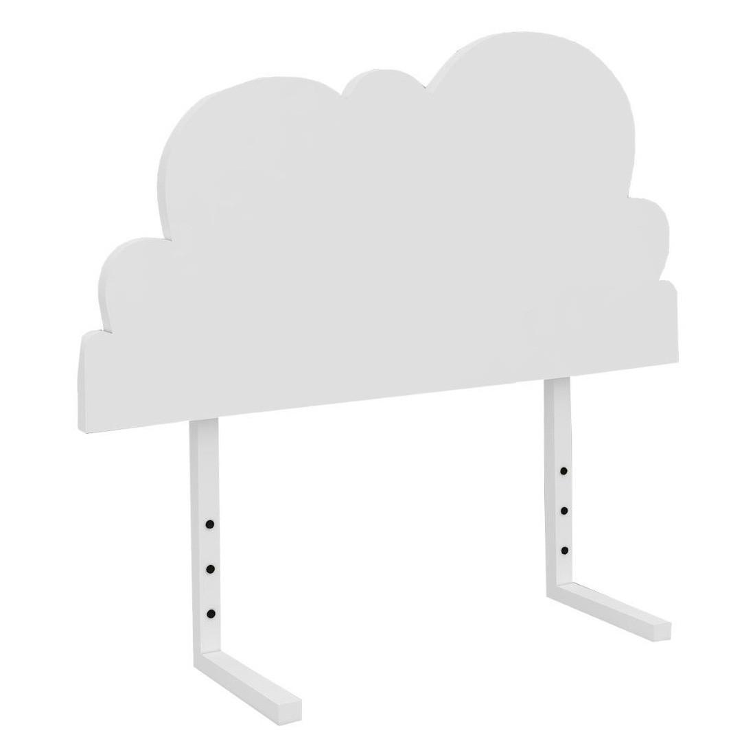 Christopher Wooden Kids Bed Headboard, Cloud, Single