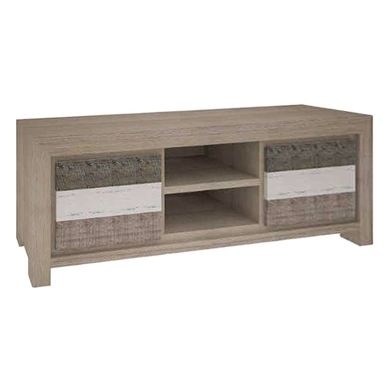 Lafite Acacia Timber 2 Drawer TV Unit, 173cm