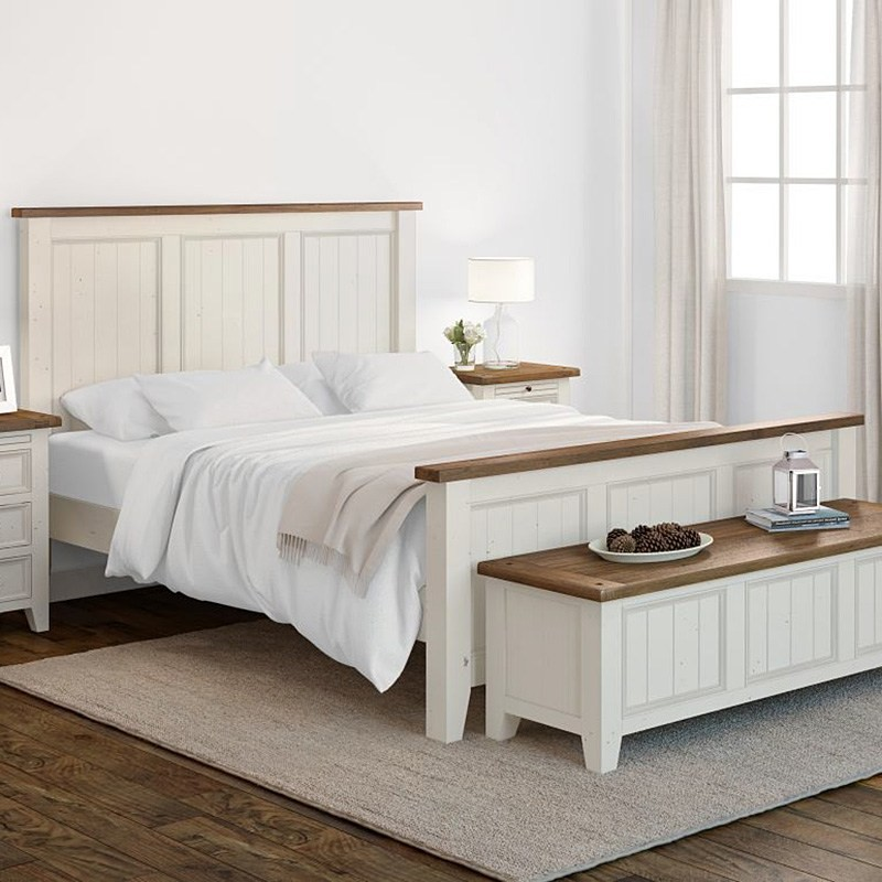Halsey Solid Pine Timber Queen Size Bed