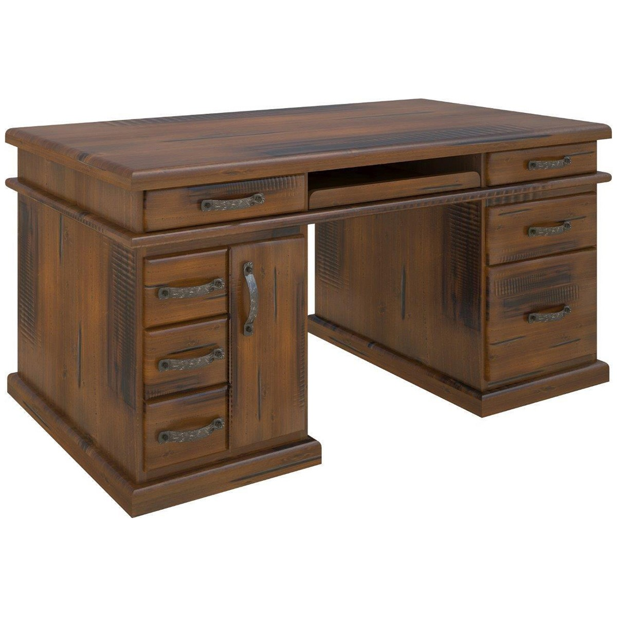 Mulford Solid Pine Timber Exclusive Desk, 165cm