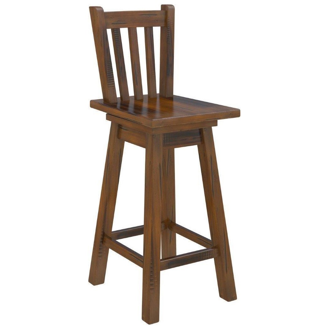 Mulford Solid Pine Timber Bar Chair